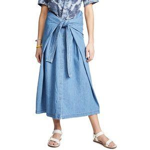 ⭐️New⭐️Levi's Tie Front Denim Skirt